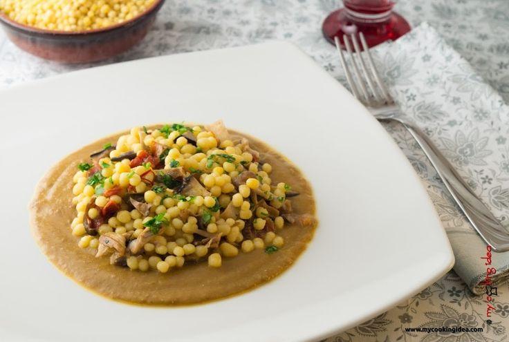 Fregola sarda con porcini, ricetta-My cooking idea http://www.mycookingidea.com/2014/11/fregola-sarda-con-porcini/