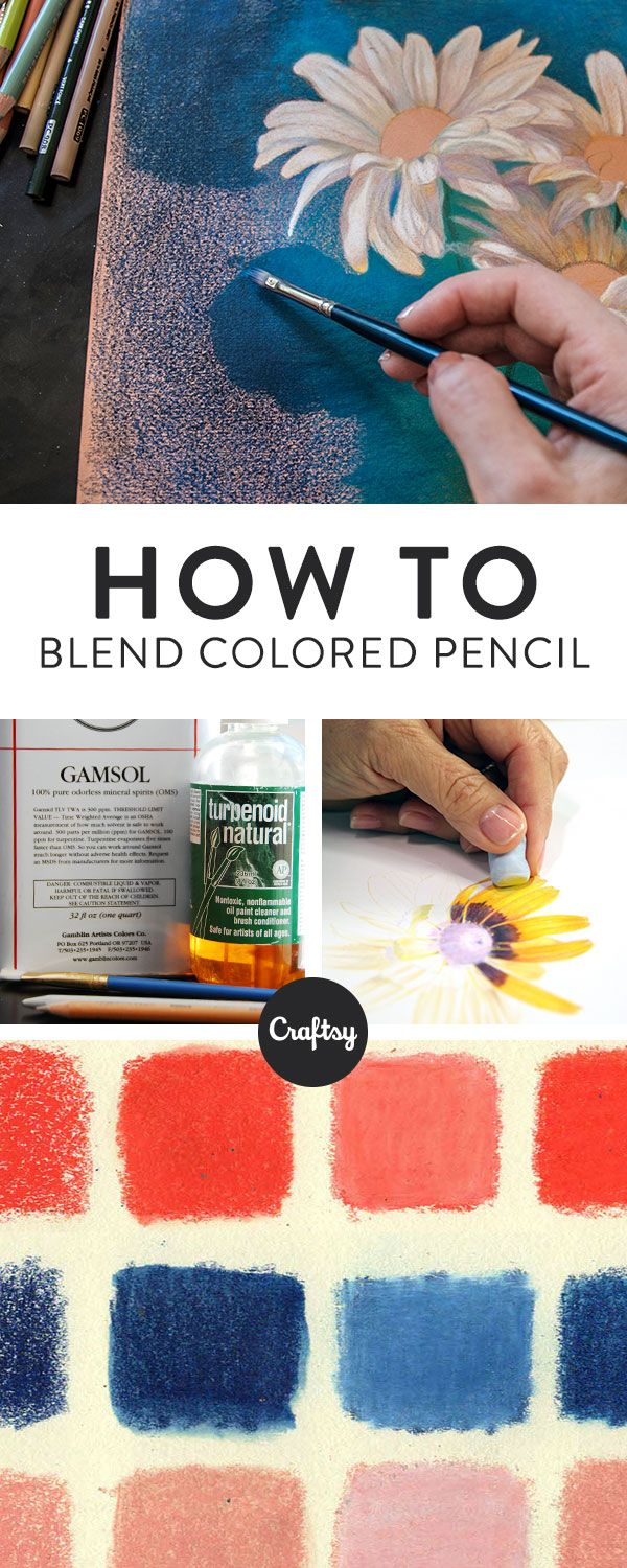 Art colored pencils - How To Blend Colored Pencils