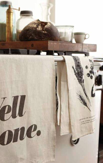 100% linen tea towels by Sir/Madam