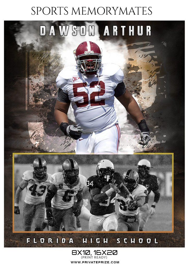 Dawson Arthur Football Memory Mate Photoshop Template Sports Design Ideas Photoshop Template Photoshop Celebrities