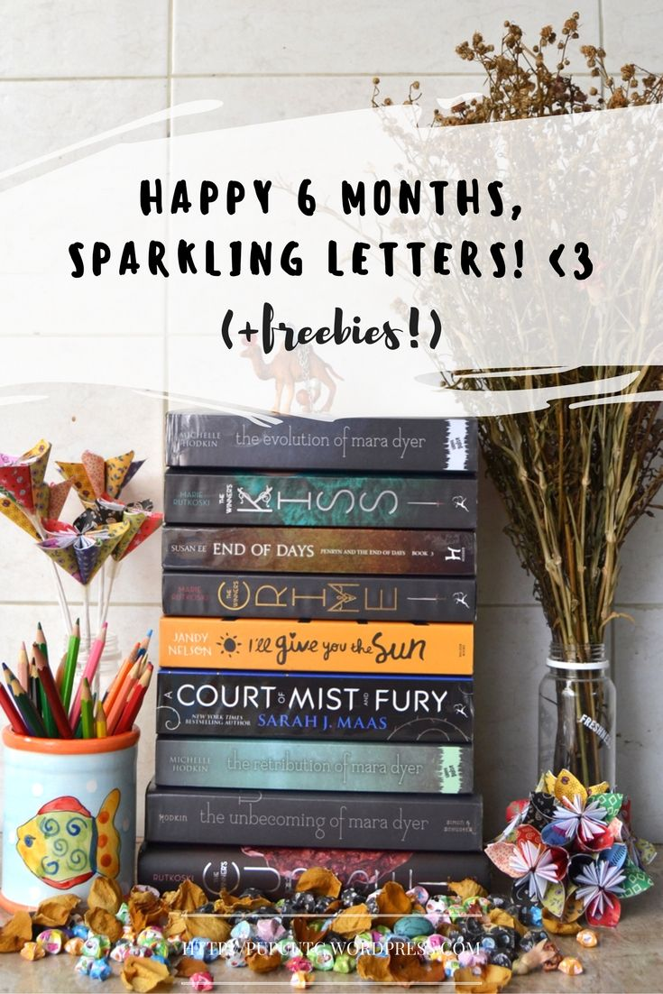 Beautiful #free #bookmarks made by @Pupuutc! Happy 6 Months, Sparkling Letters ♥ (+Freebies!)