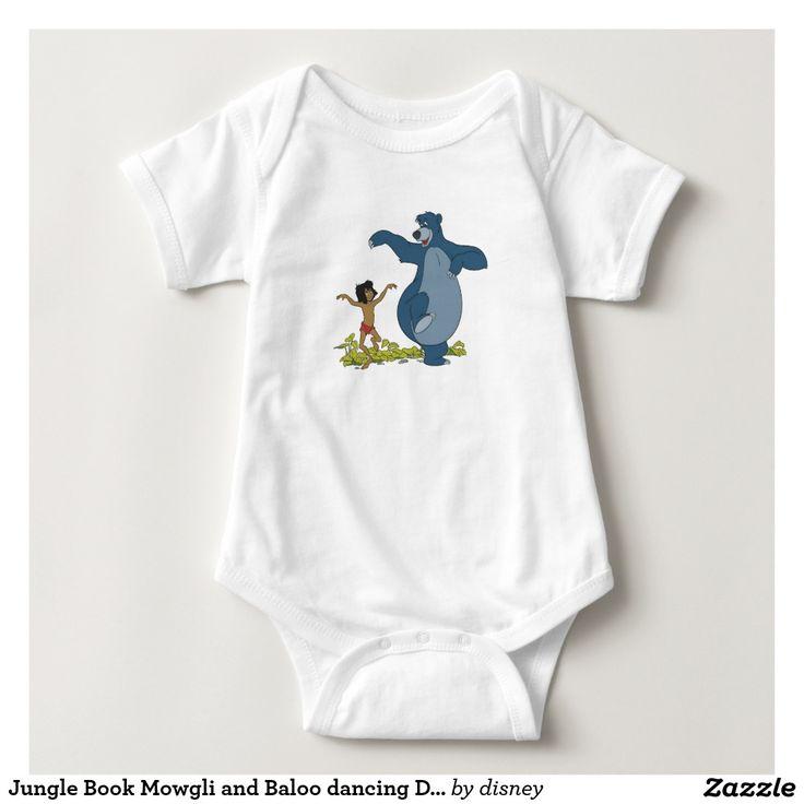 Jungle Book Mowgli and Baloo dancing Disney Baby Bodysuit