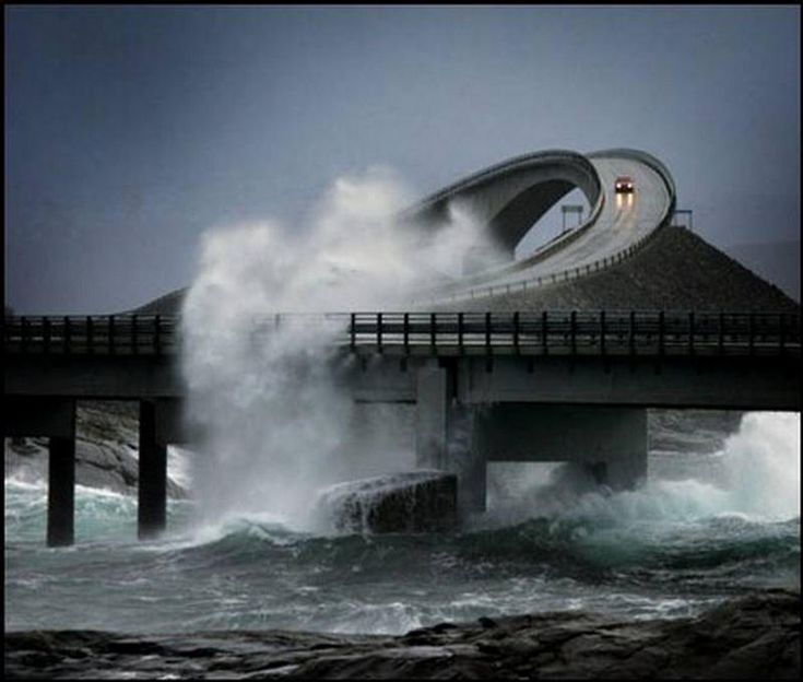Atlantic Road. Some days you just shouldn't be out driving, especially if your roads are like this...