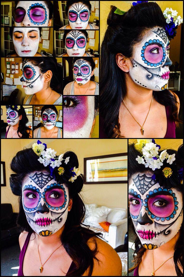Halloween make up - day of the dead - sugar skull