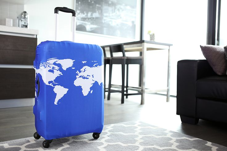 Tidy Living Luggage Cover - World