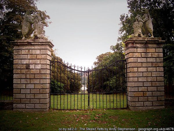 The main gates have been locked since 1745 and will remain so until the Stuart Dynasty returns to the throne.