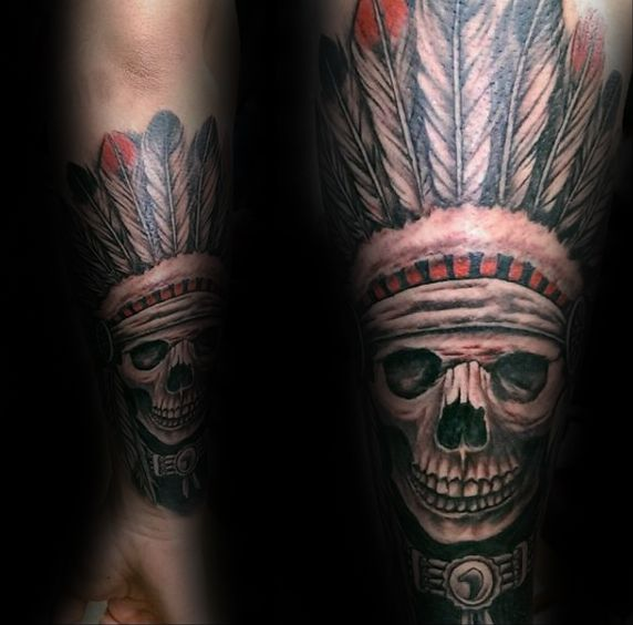 25 best ideas about indian skull on pinterest indian head tattoo indian skull tattoos and. Black Bedroom Furniture Sets. Home Design Ideas