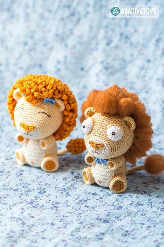 stuffed lion - lion crochet pattern - lion amigurmi #crochet #affiliate