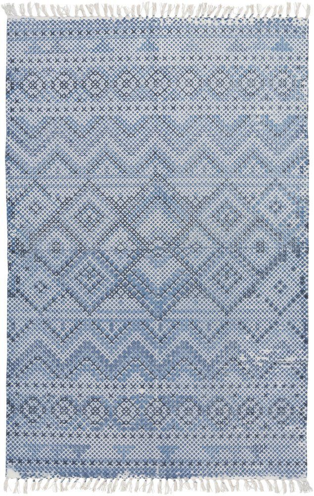 Amazon.com: Surya CSK1301-810 Chaska Bright Blue Area Rug, 8' x 10', Bright Blue/Navy/Light Gray: Kitchen & Dining