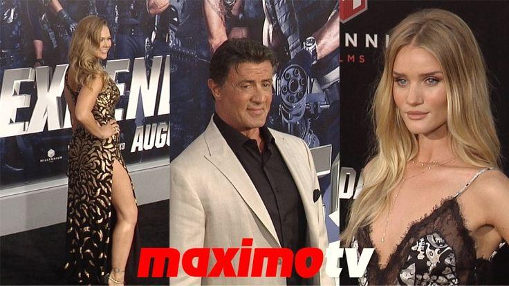 """The Expendables 3"" LA Premiere Sylvester Stallone, Ronda Rousey, Jason ..."