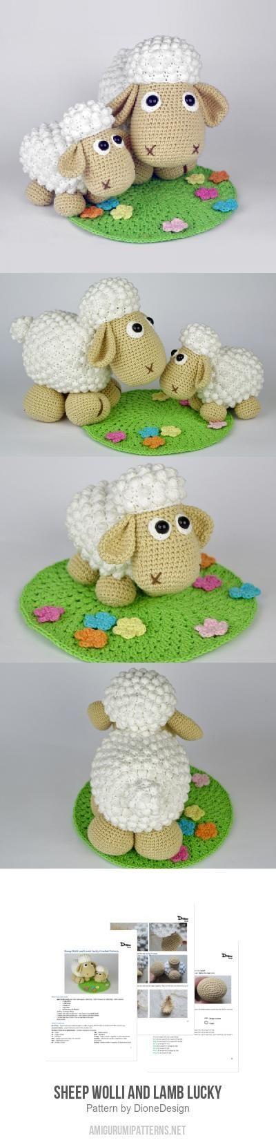 Sheep Wolli And Lamb Lucky Amigurumi Pattern