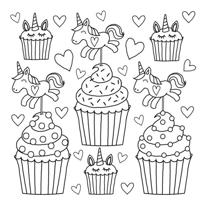 25 If You Are Looking For Unicorn Cake Coloring Pages You Ve Come To The Right Place We H Unicorn Coloring Pages Cupcake Coloring Pages Puppy Coloring Pages