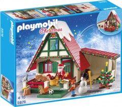 C'est dans la Maisonnette du Père Noël (5976) de Playmobil que le Père Noël construit ses cadeaux. Et toi, ta liste au Père Noël est-elle déjà prête ? La boîte de jeu ''Maisonnette du Père Noël'' (5976) de Playmobil Christmas comprend : le Père Noël, 1 lutin, 1 bonhomme de neige, 1 sapin et de nombreux jouets et accessoires.