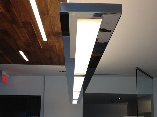 "Axis Lighting ""Slim"" Linear LED Pendant  Clinique de Chirurgie Buccale et Maxillo-Faciale Charest & Associés #Linear #LED #Lighting #AxisLighting #illuminateNE"