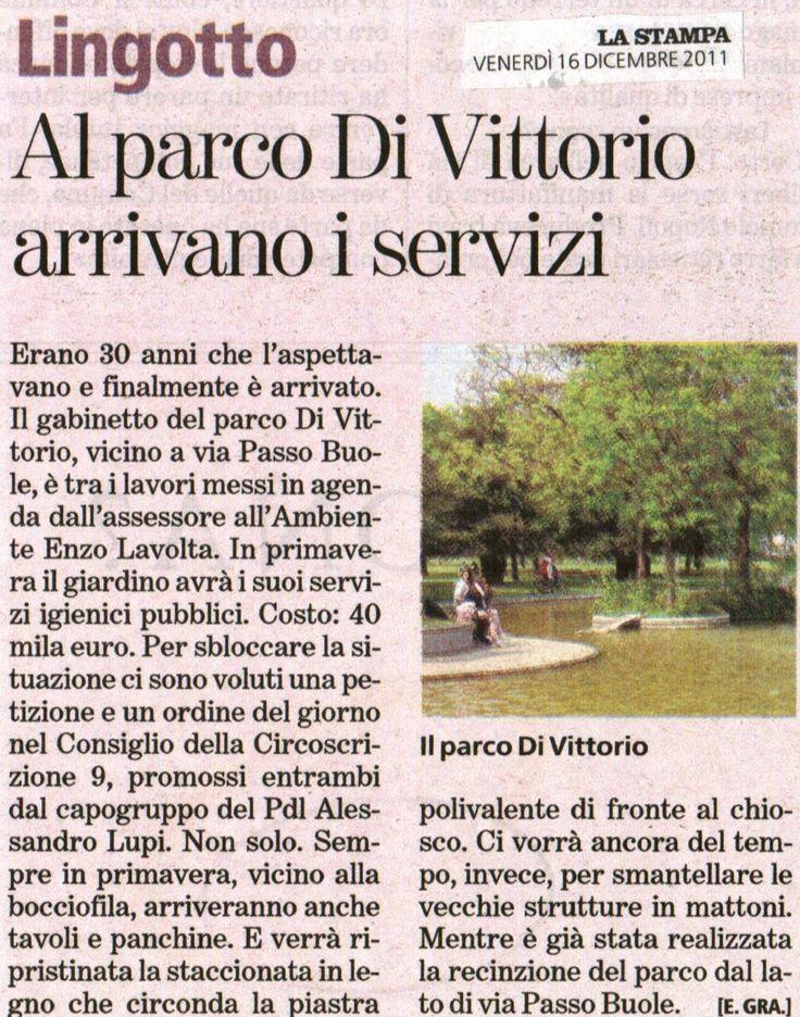 Anche al parco di Vittorio arrivano i servizi igienici... grazie anche a noi!!!