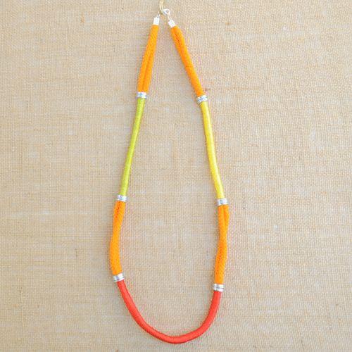 Frolic Orange Rope Necklace