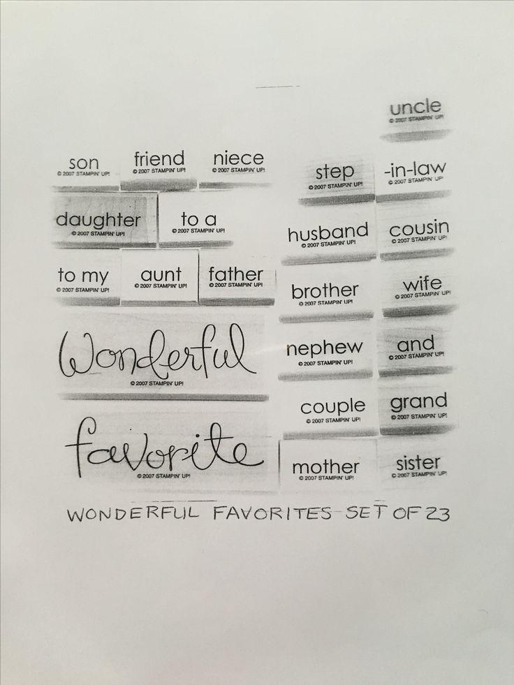 Wonderful Favorites
