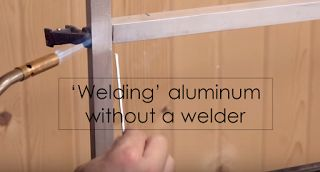 How can I 'Weld' Aluminum Without a Welder?  This is how on brazing aluminum with brazing rods using a propane torch on building the lift top coffee table. Items used here are propane torch, torch trigger, aluminum welding rods, aluminum tubing.