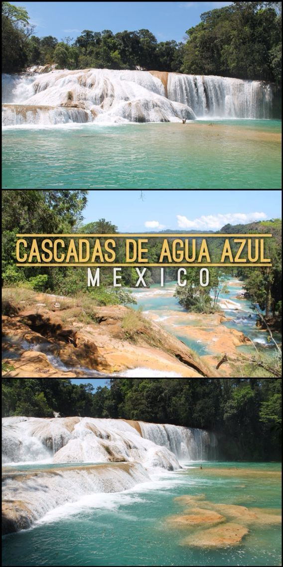 Cascada de Agua Azul, Palenque - Mexico's most beautiful waterfalls   Read More:  http://mismatchedpassports.com/2016/04/16/cascadas-de-agua-azul-palenque-ruins-day-tour-in-palenque-mexico/