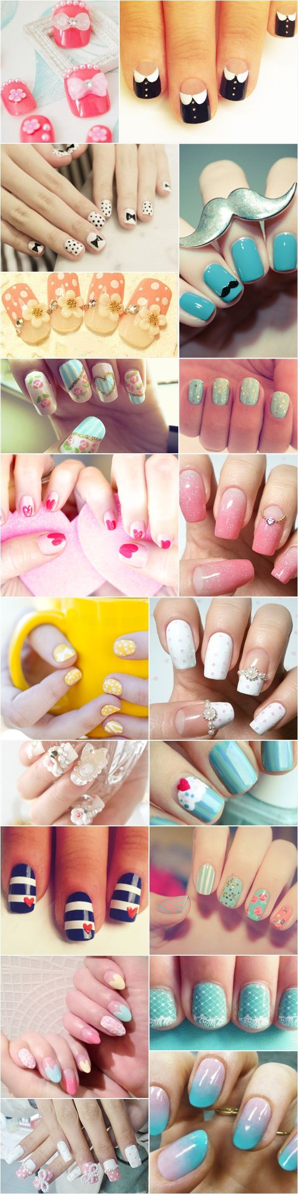 Lovely nail designs for brides    #wedding #nails #manicure I like the hello ones @Itzel R