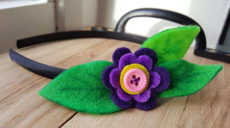 Handmade Purple Felt Daisy Headband by HandmadeNorfolk on Etsy