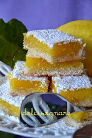 Barrette al limone, lemon bars, carrè au citron...