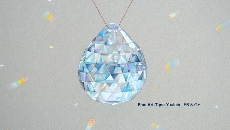 How to Draw a Crystal Pendant, Swarovski Style - With Color Pencils - Glass #art #drawing #FineArtTips #crystalpendant #Swarovski #texture #glass #tutorial #artistleonardo #LeonardoPereznieto Take a look to my book here: http://www.artistleonardo.com/#!ebooks-english/cswd