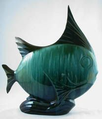The angelfish made by Blue Mountain Pottery in Collingwood, Ontario