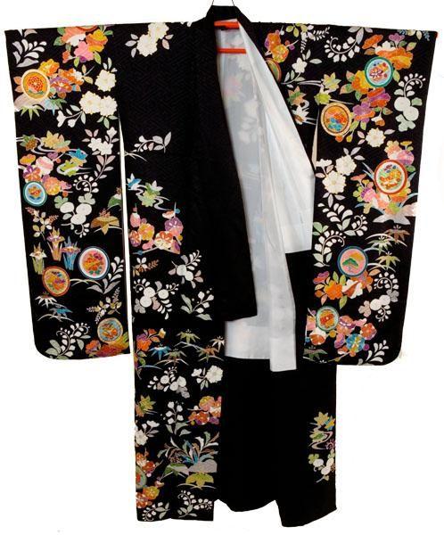 Furisode - Japanese silk kimono
