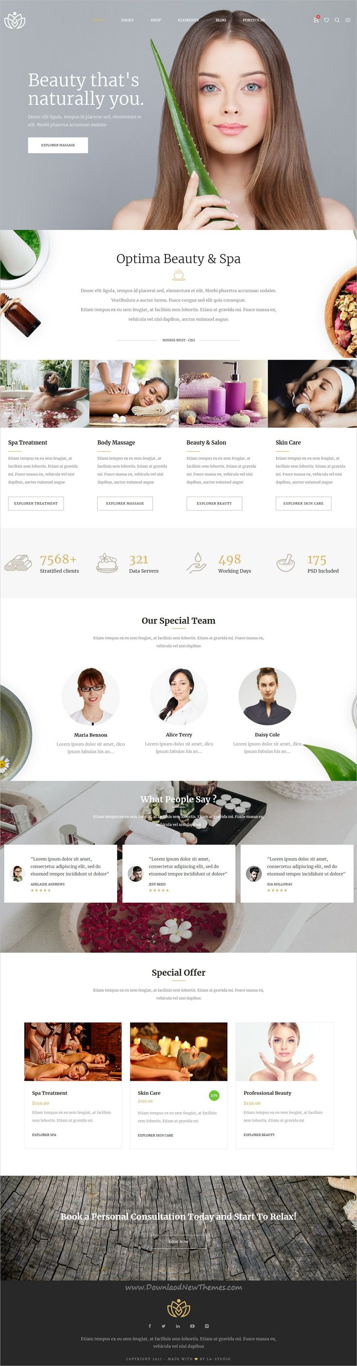Optemia clean and modern design responsive multipurpose WordPress beauty spa theme with 25+ homepage layouts Unlimited downloads of 340K inspiring and ready-to-use photos, Premium WordPress themes, Plugins, templates, fonts and assets; subscribe for a single monthly fee