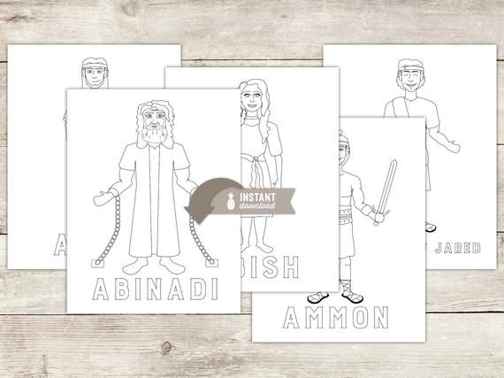 Instant Download Book Of Mormon Hero Coloring Pages 15