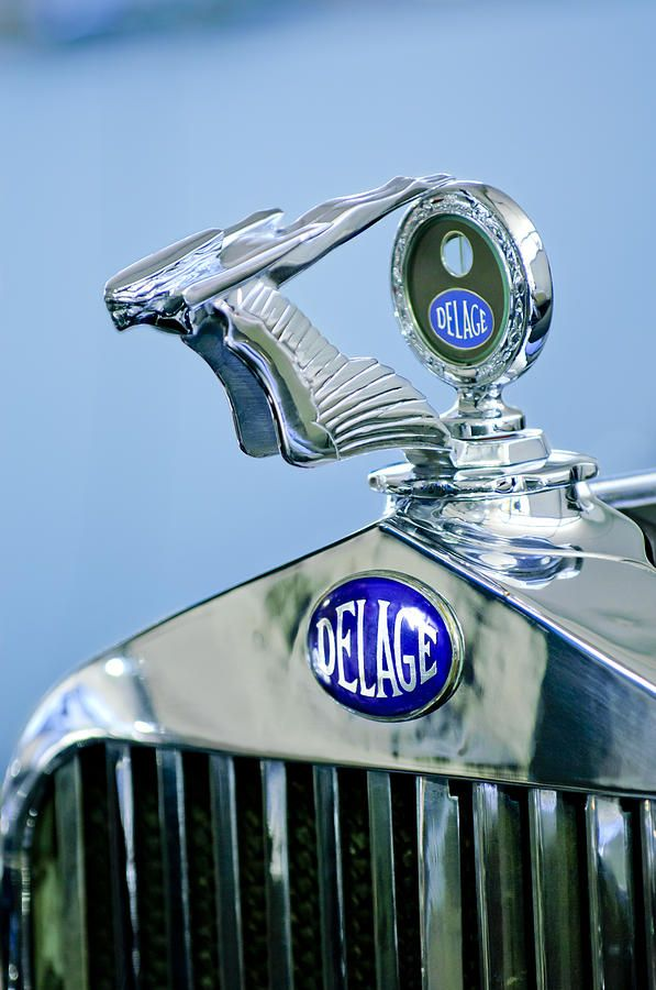1933 Delage D8s Coupe Hood Ornament by Jill Reger..Re-pin brought to you by agents of #carinsurance at #houseofinsurance in Eugene, Oregon