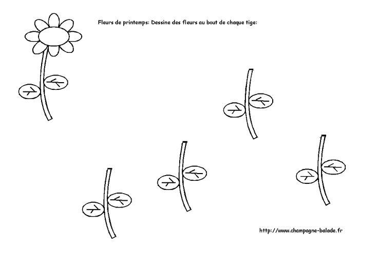 Fleur graphisme enfant maternelle dessin fleur petale - Coloriage fleurs maternelle ...