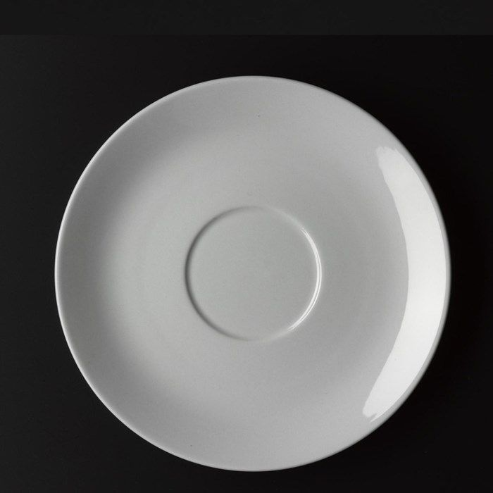 Blå Kant (Blue Line) saucer designed by Grethe Meyer. Named for the fine blue line that runs along the edges of the light grey faience, and received the inaugural Danish Industrial Design Prize (ID) in 1965. #Design #Ceramics #Nordic #Modernist