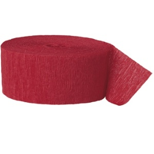 Crepe Streamers 81' Red