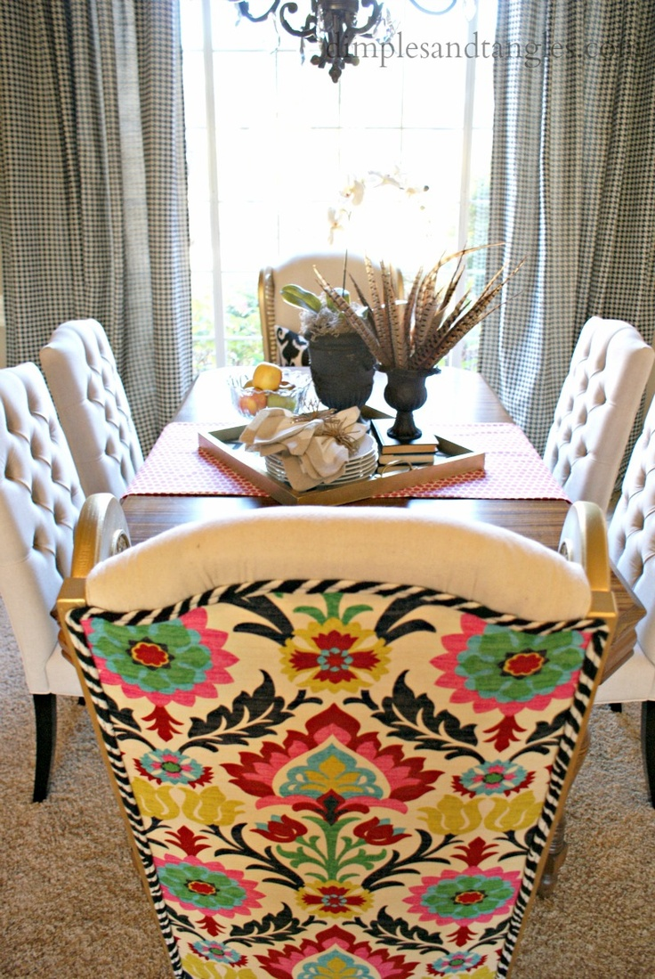 Dimples and Tangles: Dining Room Host Chair Re-do <3