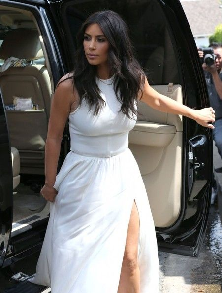 Kim Kardashian Photos - Reality stars Kim Kardashian and her mother Kris Jenner attending Ciara's baby shower in West Hollywood, California on March 22, 2014. Kim who recently found out her and fiance Kanye West were on the cover of the upcoming Vogue Magazine, seemed to be in a good mood despite all the fallout of people who were claiming to now cancel their subscriptions to the magazine. Sarah Michelle Gellar came out with a tweet that stated she was canceling hers. - Kim & Kris Att...