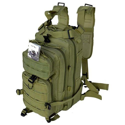 Every Day Carry Tactical Assault Bag EDC Day Pack Backpack w/ Molle Webbing OD