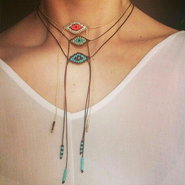 #collar #triple #cuerda #Mostacilla