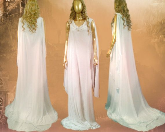 Gown White Council Galadriel The Hobbit By VoltoNero On