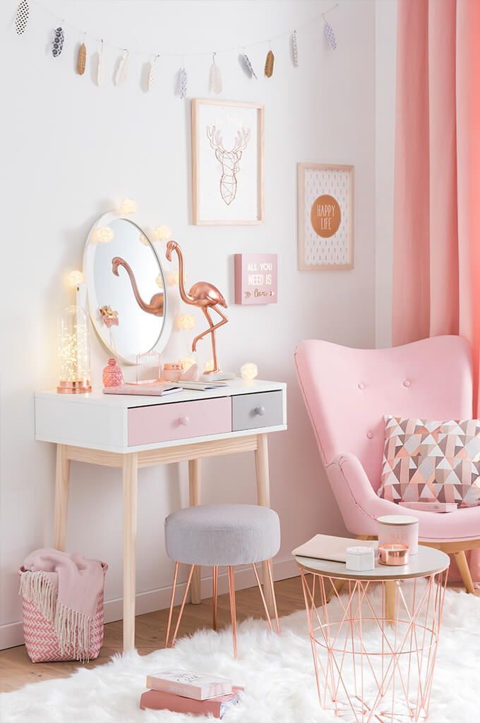 bedroom accessories for girls. tendencia modern copper - bonito tocador | maisons du monde bedroom accessories for girls s