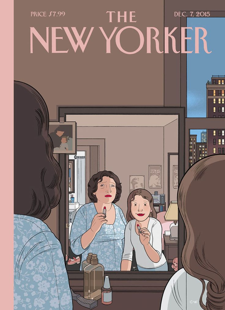 audio that might somehow be adapted, not only as a cover but also as an animation that could extend the space and especially the emotion of the usual New Yorker image. (Cover-Story-Chris-Ware-ART, 2015) Great conbo of mag cover, audio and animation.