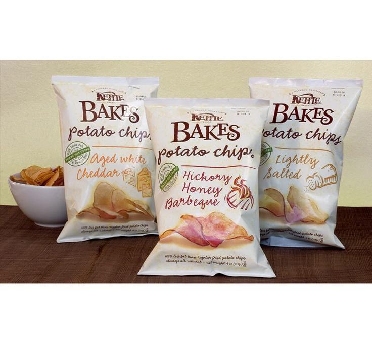 Packaging design for Kettle Bakes potato chips
