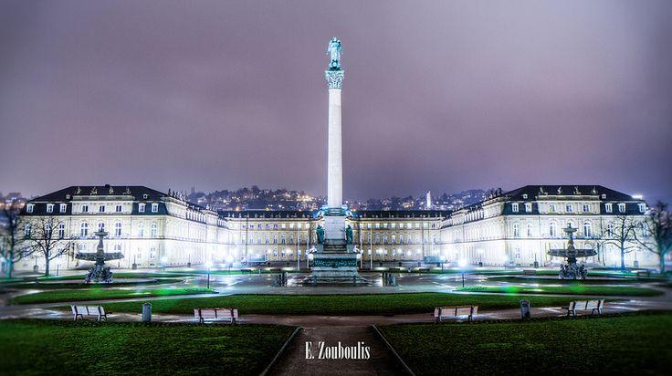 Schlossplatz | Schlossplatz, Stuttgart, Germany at Night | E Zouboulis | Flickr