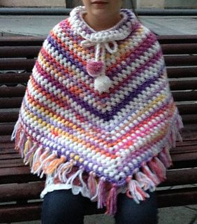 I enjoy the puff stitch so much! that after the block ant the cowl I went for a poncho.
