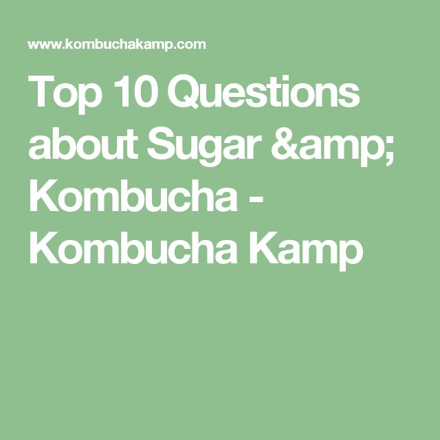 Top 10 Questions about Sugar & Kombucha - Kombucha Kamp