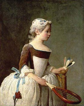 Jean-Baptiste Siméon Chardin: Junges Mädchen beim Federballspiel