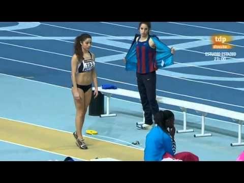 Salto de longitud femenino Campeonato de España 2013 en pista cubierta - YouTube