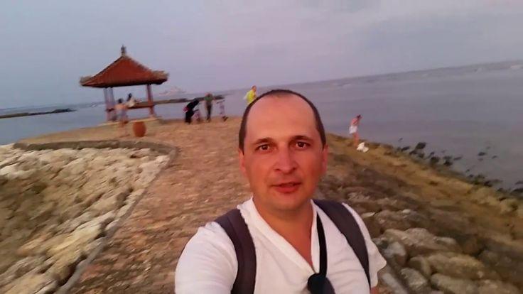 Отлив на Бали, Прогулка по пляжу,  Вечер в Нуса Дуа