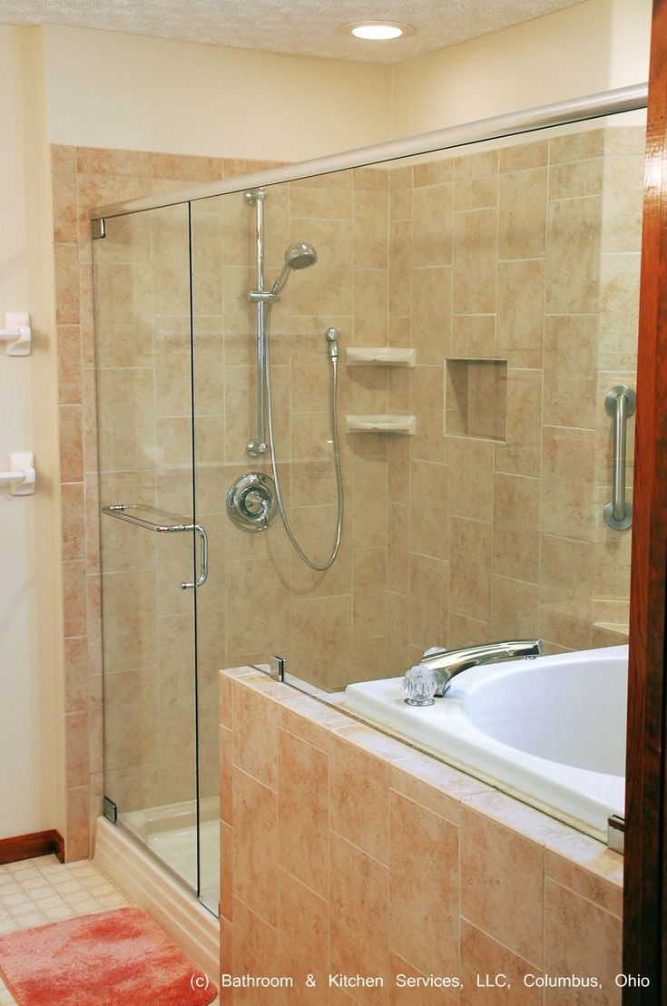 Japanese style shower and soaking tub.